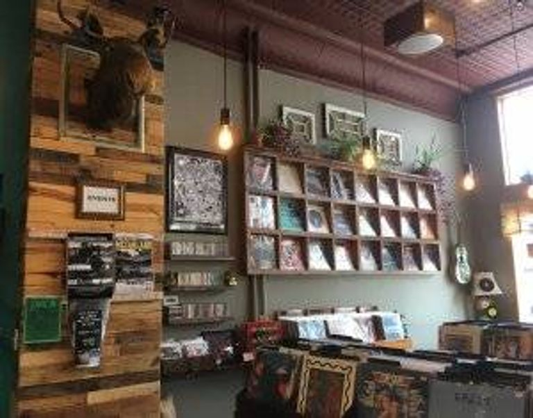 Inside Caydence Records & Coffee. pbs rewire