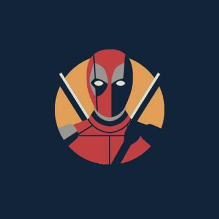 Illustration of the Marvel character Deadpool. Representation pbs rewire
