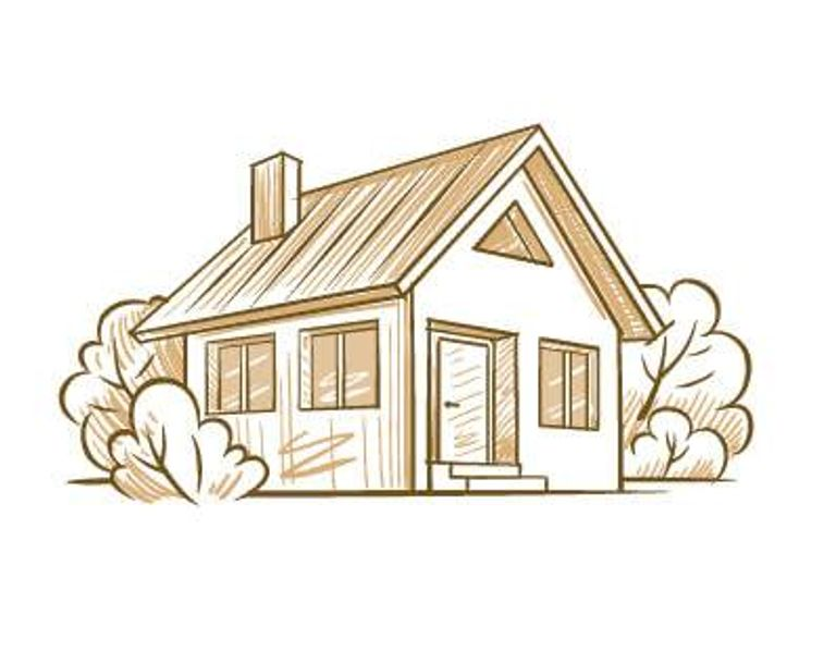 Illustration of modern single family home. Energy Efficient pbs rewire