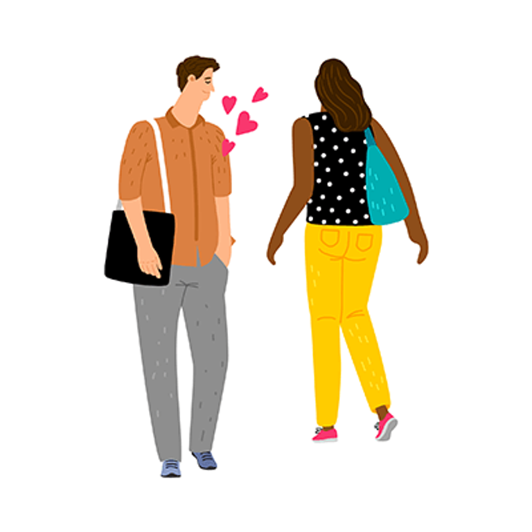 A man has a crush on a woman at first sight. Rewire PBS Love Instant Connection