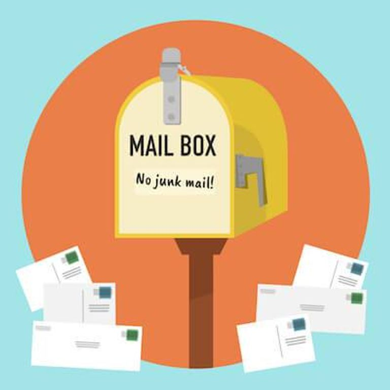 Illustration of mailbox without any junk mail in it. Reduce the Garbage You Produce pbs rewire