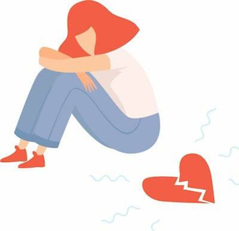 An illustration of a person with a broken heart. Rewire PBS Love Ambiguous Loss