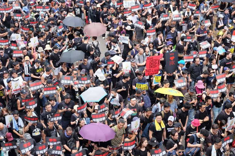 Photo of Hong Kong protestors. Rewire PBS Our Future Global Cause