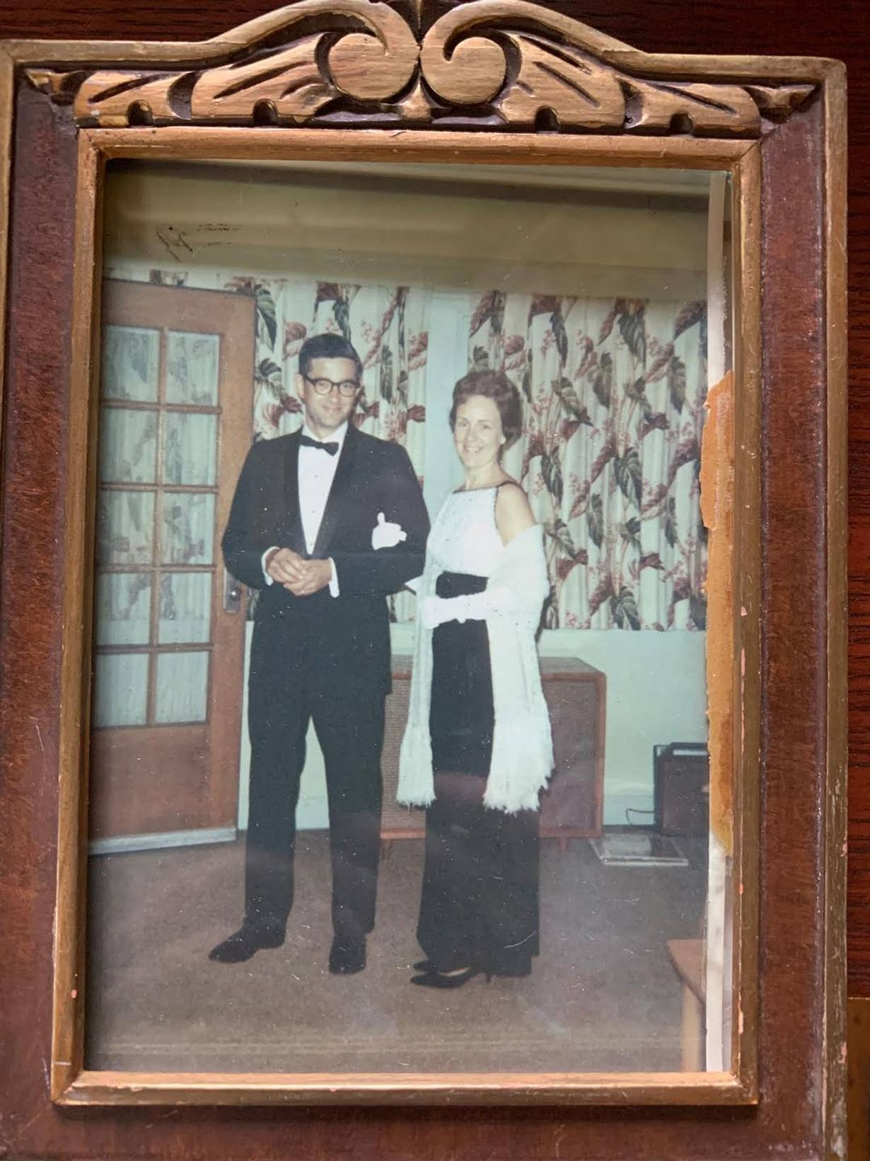 Couple dressed in formal clothing