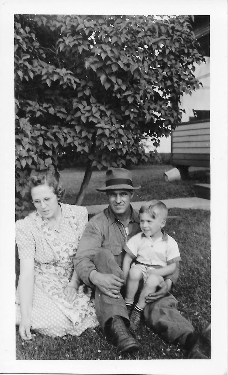 George, his wife Olive, and their son Frank