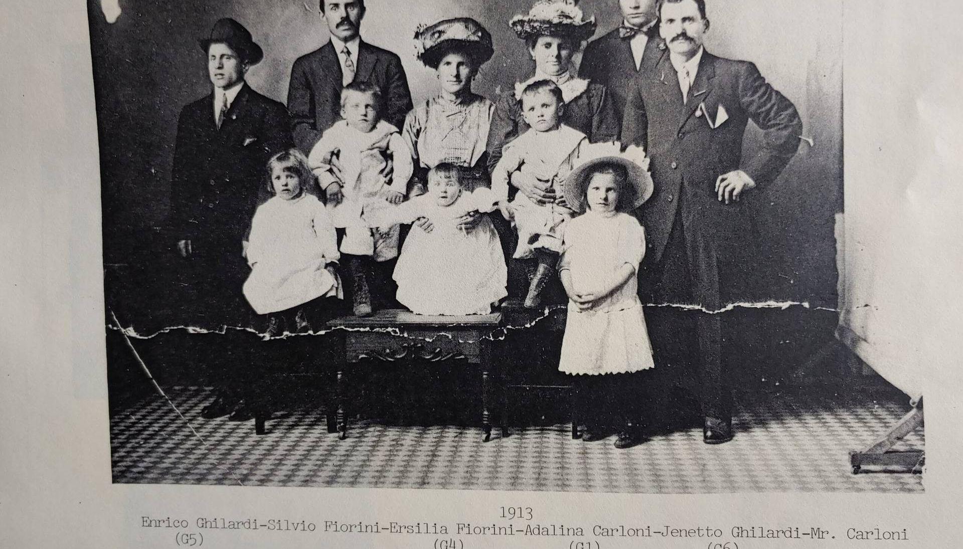 A 1913 portrait of the Ghilardi-Taramelli-Fiorini family