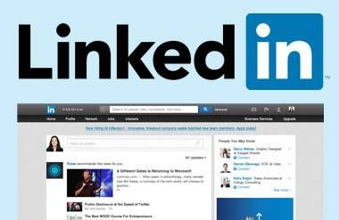 LinkedIn page and logo
