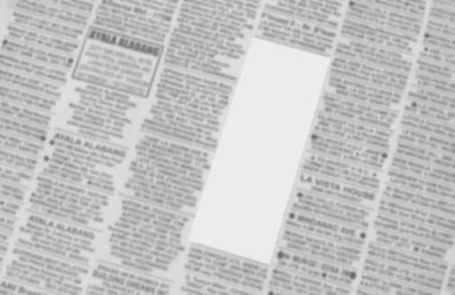 classified ads containing blank ad