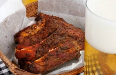 pork ribs and beer
