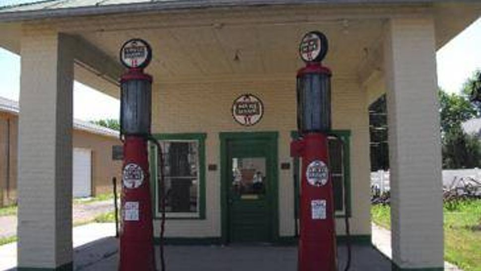 restored (non working) gas pumps, holyoke, co
