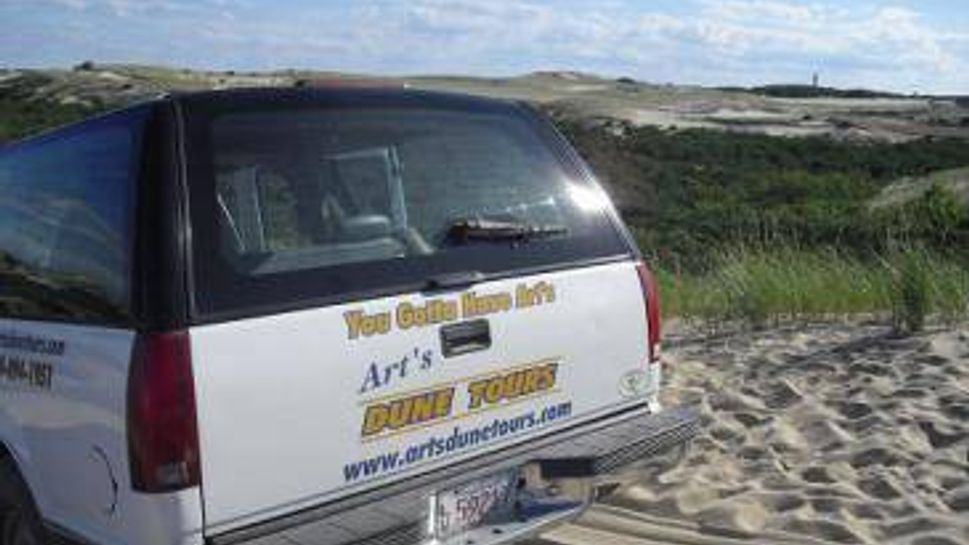 overview of cape cod sand dunes via art's dune tours in provincetown, ma