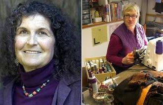 Arlene Blum makes products safer and Jill Kerttula upcycles old sweaters.