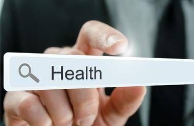 Health written in search bar
