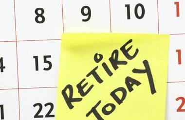 Retire today note on calendar