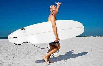 Man going surfing