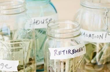 Jars with money