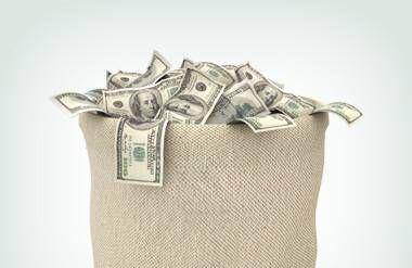Bag of cash money