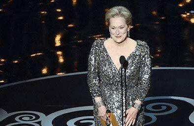 Actress Meryl Streep at the Oscars