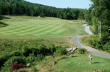 Mom at Highlands Links Golf Course