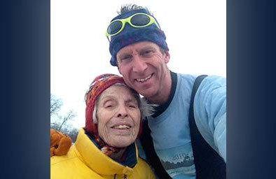 Friends Penny Jacobs, 88, and Erik Wardenaar, 54