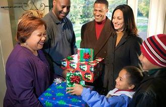 An African-American family arrives at the in-laws' house for Christmas.