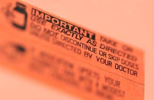 Prescription warning label