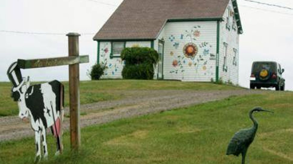 Creatively painted house in Cheticamp, Cape Breton