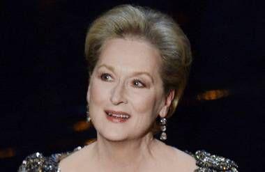 Meryl Streep presents during the Oscars February 24, 2013