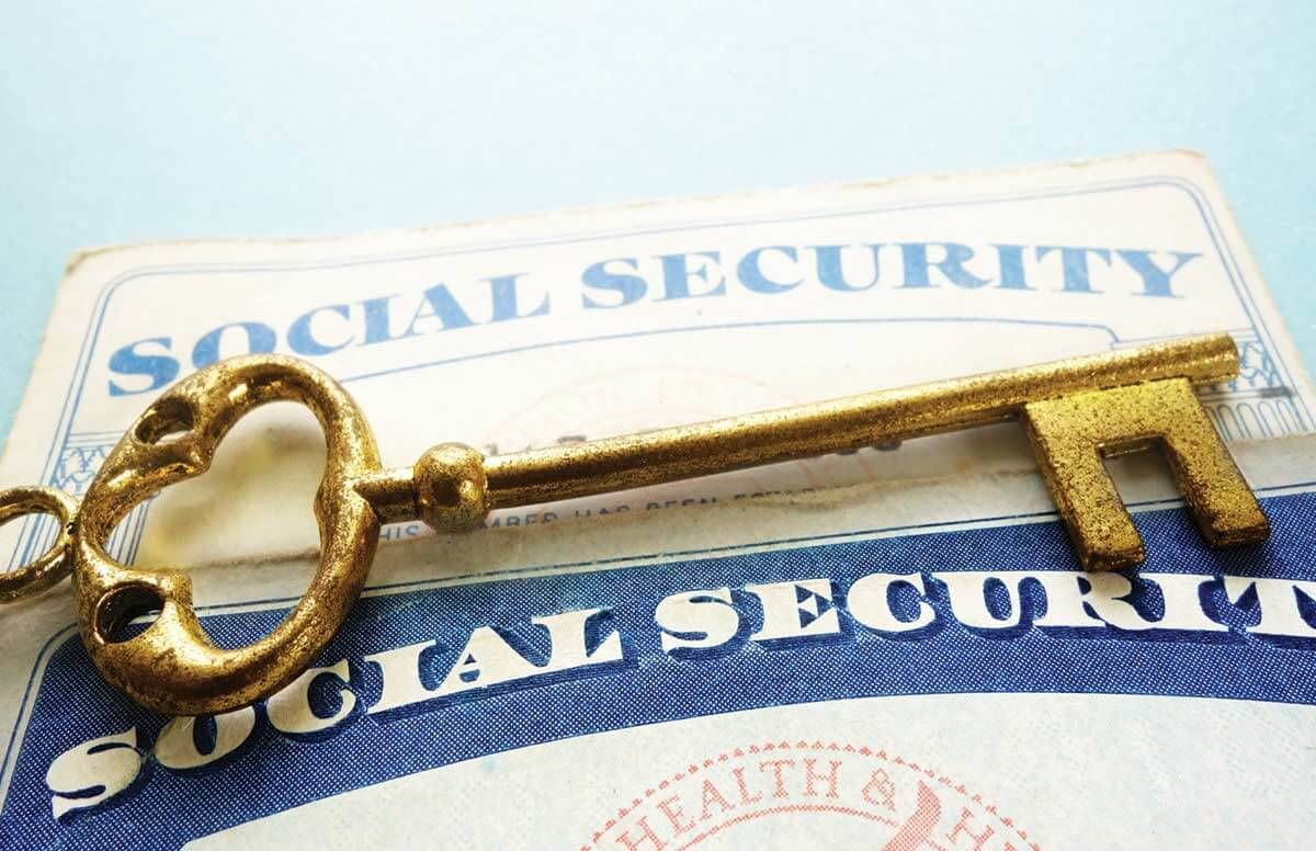 Social Security Card and Key