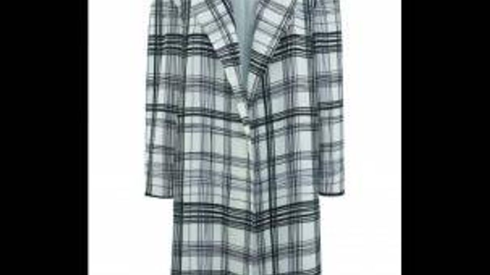 Topshop Prince of Wales plaid wrap coat. Wear it over everything.