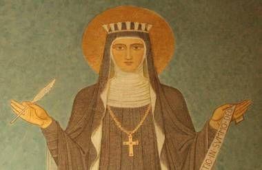 Mural of Hildegard at St. Hildegard's Abbey