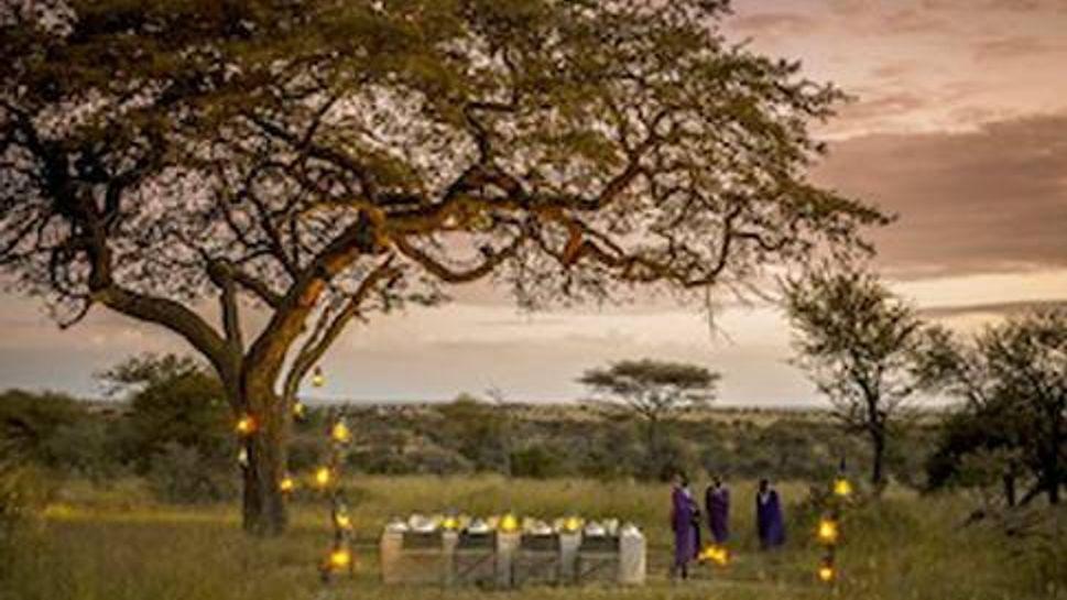 Bush dinner at Four Seasons Safari Lodge Serengeti