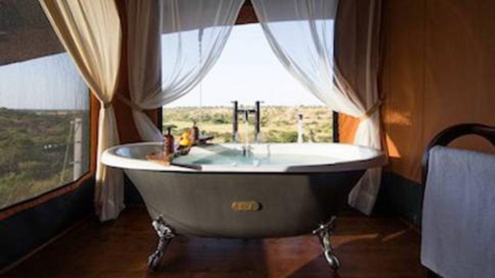 Ensuite Bathroom at Mahali Mzuri Safari Camp Camp
