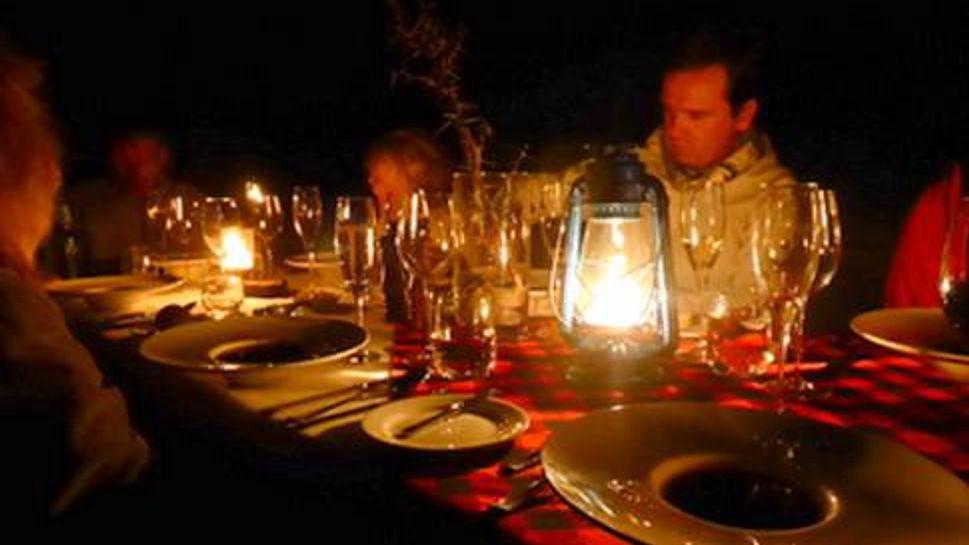 Bush dinner at Mahali Mzuri in the Motorogi Conservancy