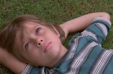 """Boyhood""star Ellar Coltrane at age six in a scene from the film"