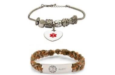 stylish medical ID bracelets