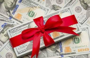 Wrapped U.S. One Hundred Dollar Bills