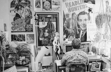 Roger Ebert in his office