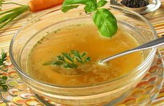 Vegetable soup as a fasting meal that can improve brain function.