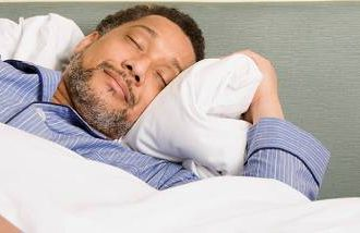 African-American man sleeping