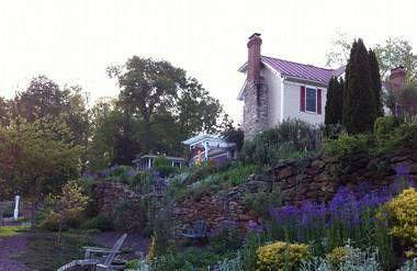 Garden at farmhouse of career coach Beverly Jones