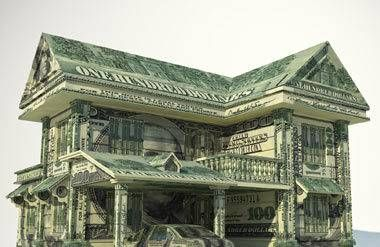 House and money made of money