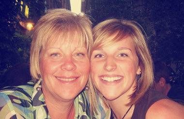 Danielle Delph with her mother