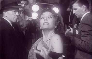 Norma Desmond (Gloria Swanson) after delivering her famous line.