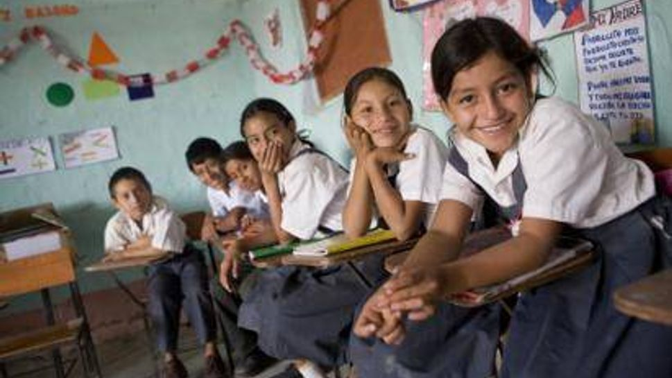 Female students attend primary school thanks to Heifer International