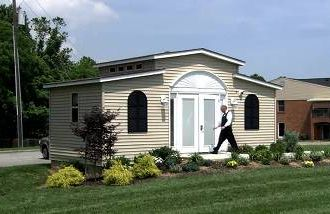 A Med Cottage prefab home as an long-term care alternative to nursing homes.