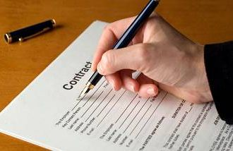 signing a work contract