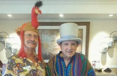 Pete Watson working at an assisted living facility