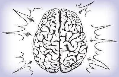 Illustration of active brain