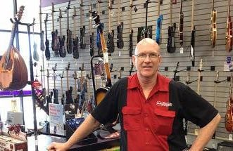 Gary Taylor owner of a franchise music store